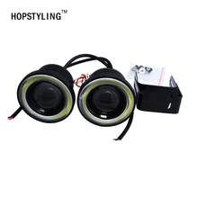 Buy 2X 3.5inch FOG Angel eyes Angel Eye COB Halo Ring LED DRL Projector Lens Fog Driving Light M.azda S.ubaru C.hrysler D.odge for $25.90 in AliExpress store