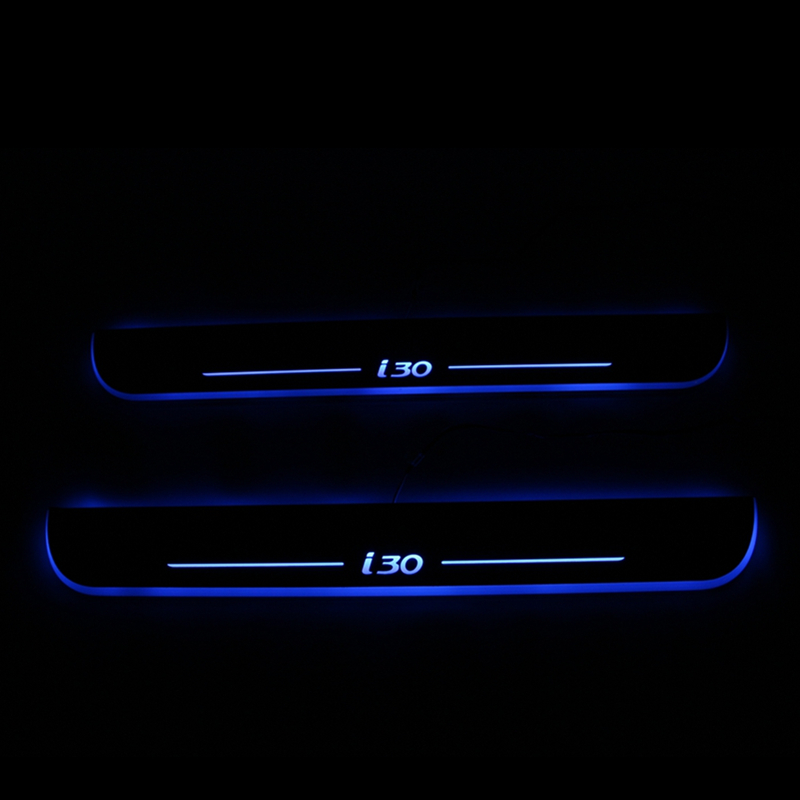 Discount ! LED Door Sill Moving Light Scuff Plate for Hyundai I30 , 2pcs Welcome Pedal<br><br>Aliexpress