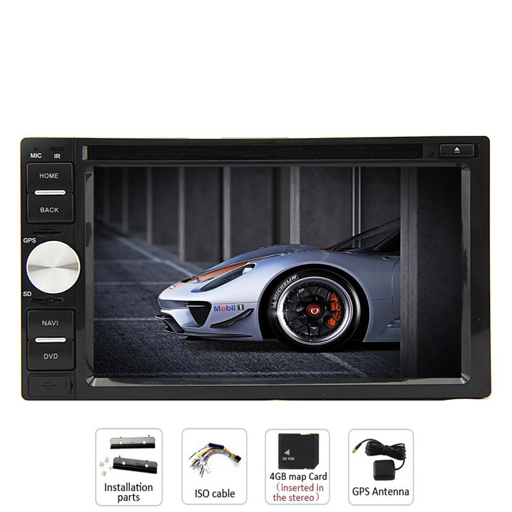 6.2-Inch In Dash Sat GPS Navigation Car CD DVD Player HD Touch-screen LCD Monitor with Handfree Bluetooth Analog TV+Free SD map(China (Mainland))