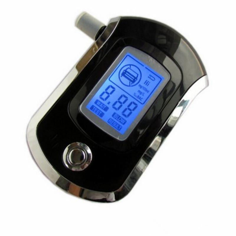 NEW!!Professional Mini Police Digital LCD Screen Breath Alkohol Alcohol Tester Breathalyzer AT6000 Bafometro Alcoholimetro 8901