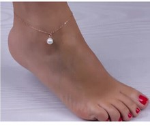Sexy Women Pearl Bead Ankle Chain Anklet Bracelet Foot Jewelry Sandal Beach ST8