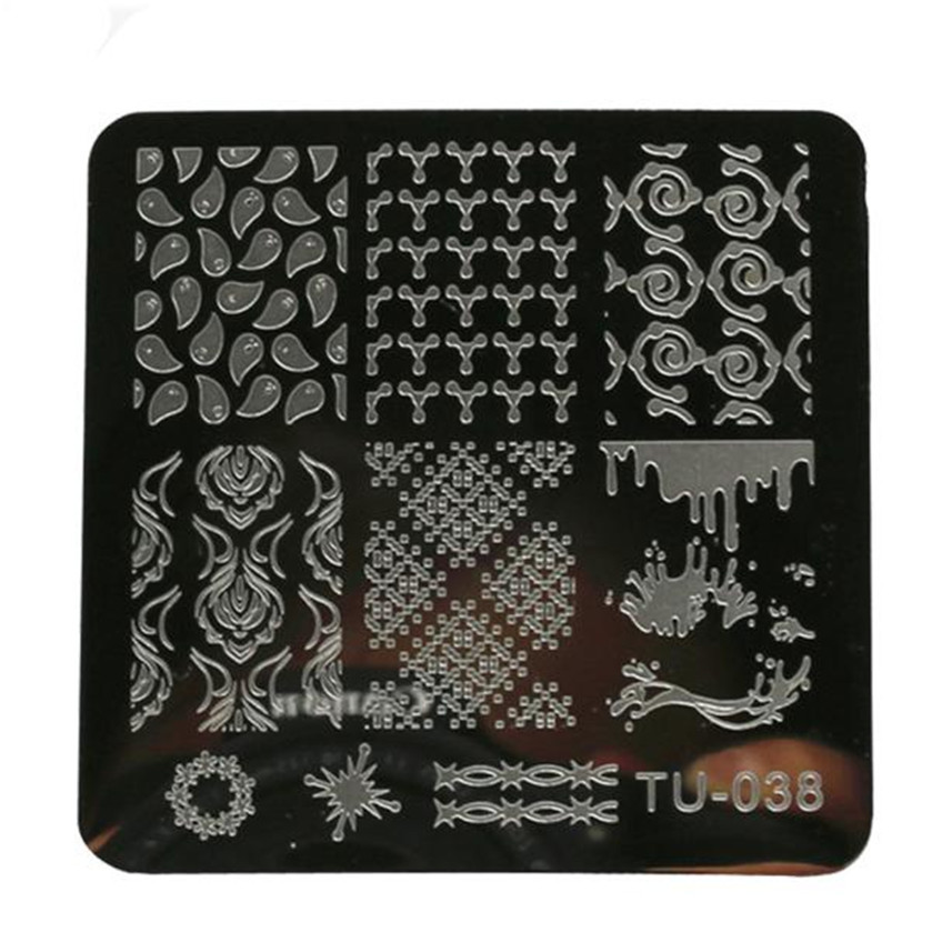 2016 HOT! DIY Nail Art Image Stamp Stamping Plates Manicure Template 6617(China (Mainland))