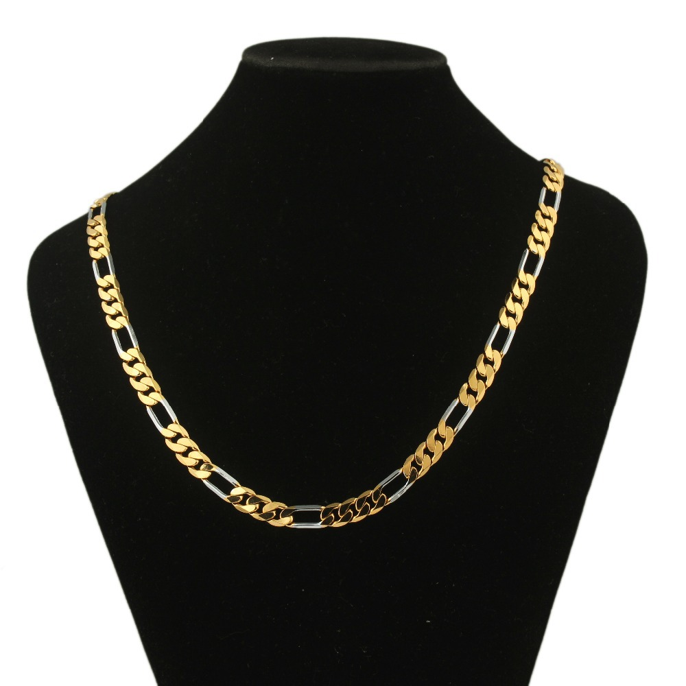 2015 best sale real 18k gold plated chain necklace for women & men high quality necklace jewelry(China (Mainland))
