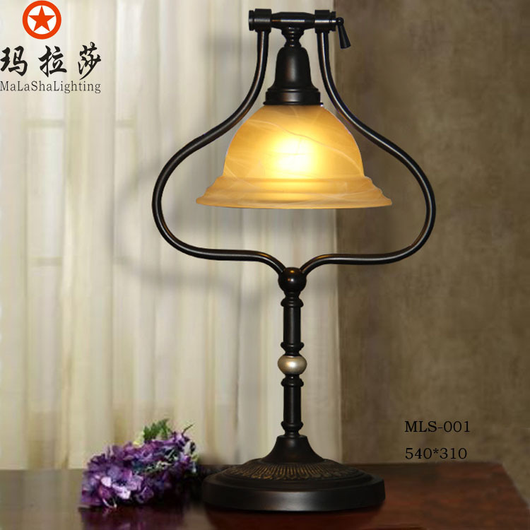 Ma Lasha lighting manufacturers supply elegant European-style rooms decorated table lamp bedside lamp MLS-001 Fabric(China (Mainland))