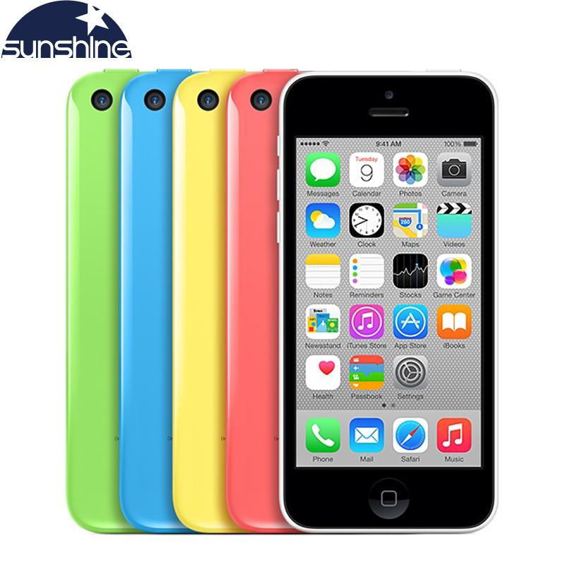 "Original Unlocked Apple iPhone 5c Mobile Phone 4"" Retina IPS Used Phone 8MP 1080P GPS IOS Multi-Language iPhone5c Cell Phones(China (Mainland))"