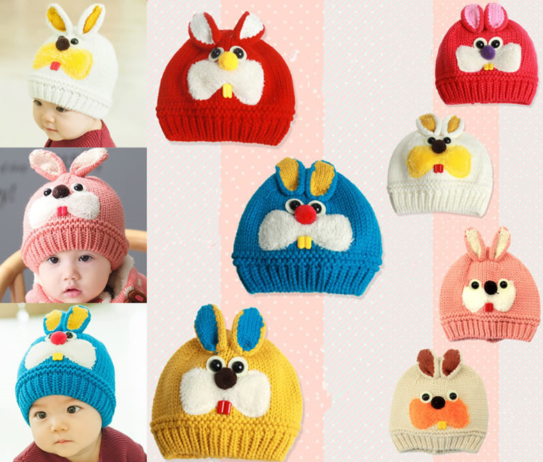 New Baby Kids Children Girls Boys Bunny Cap Hat Beanie Skullies Hair Accessories Mask Hot Caps Bonnets Photography Prop Headwear(China (Mainland))