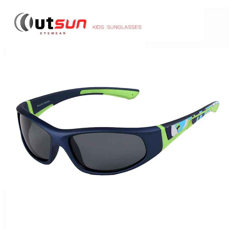 OUTSUN 2016 Fashion Kids Sunglasses Polarized Boys/Girls Sporting Style Rubber Sun Glasses Outdoor Goggles Polaroid Glasses