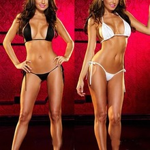 Womens Sexy Lingerie Swimsuit Swimwear Babydoll Bikini Top Bra G-string Set New 2015-Y107