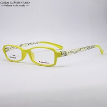 New Design Ultralight Female Fashion Yellow With musical symbols Optical Glasses Student frame Eyeglass 5006 C8