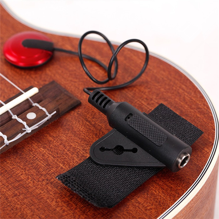 2015 Hot Piezo Contact Microphone Pickup 1/4' Jack for Guitar Violin Banjo Mandolin Ukulele 1pc FREE SHIPPING(China (Mainland))