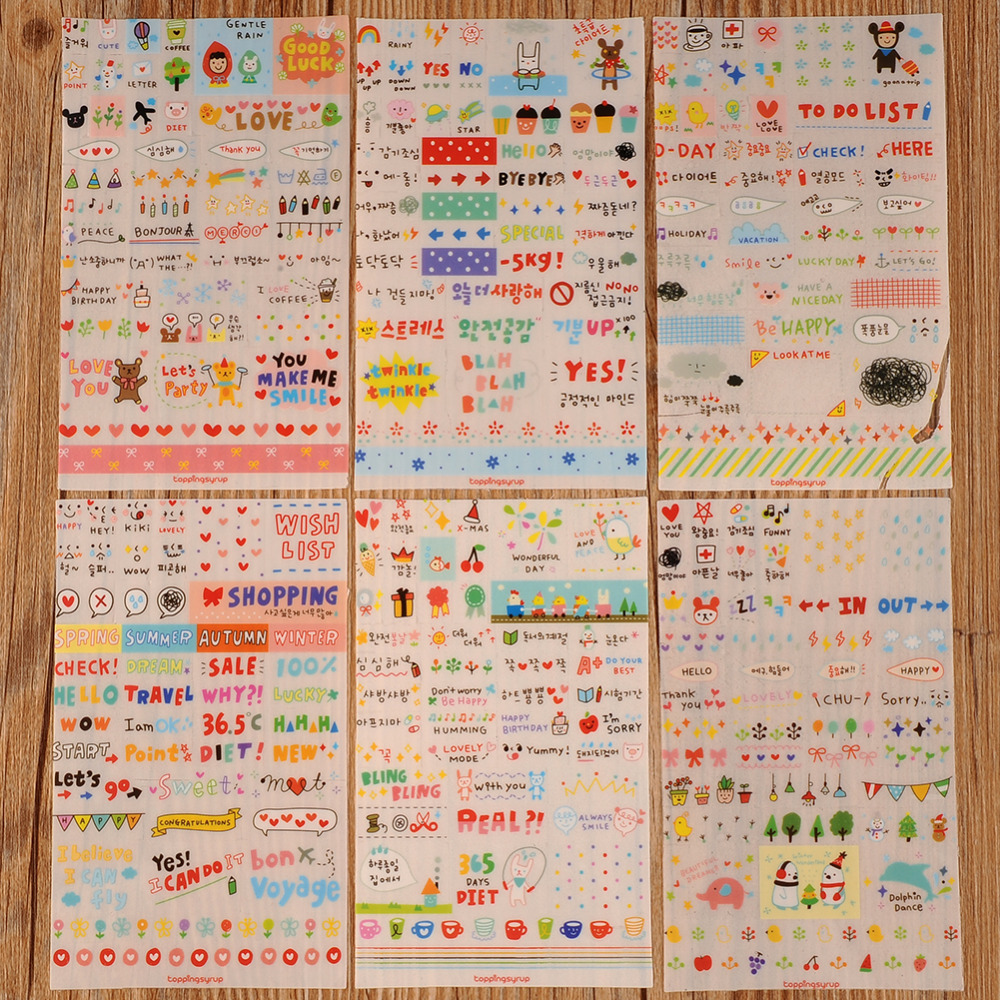 6 sheets/pack Sheet Sticker Pack Emoji Stickers Most Popular Emojis For Mobile Phone Kids Rooms Home Decor Tablet(China (Mainland))