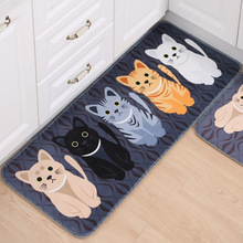 Kawaii Welcome Floor Mats Animal Cat Printed Bathroom Kitchen Carpets Doormats Cat Floor Mat for Living Room Anti-Slip Tapete(China (Mainland))
