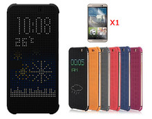 For HTC Desire 620/620g Case Dot Flip Back Cover With Sleep Wake Up Function Quick View Smart Case Free Screen Film(China (Mainland))