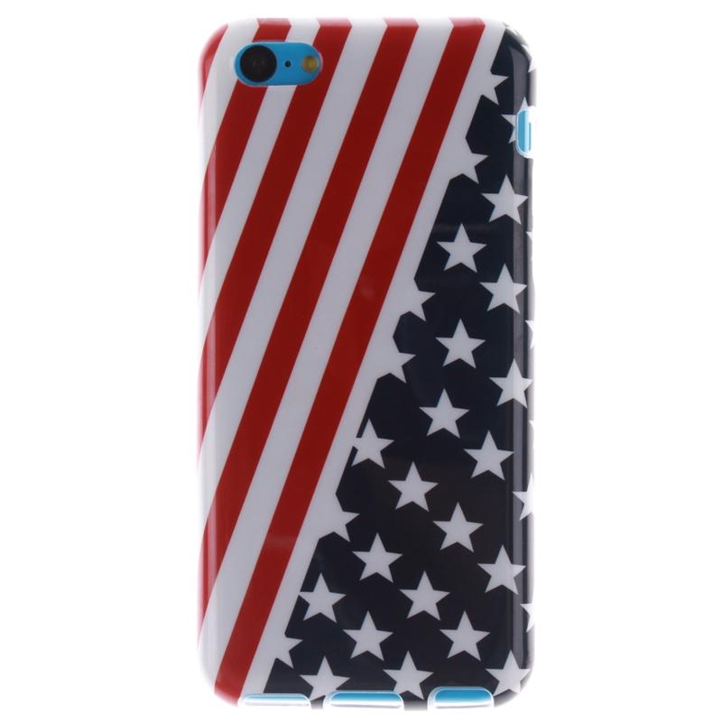 For Iphone 5C font b Cases b font American Flag Pattern Soft TPU font b Case