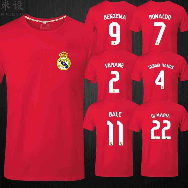 real madrid 2016 futebol do real madrid home white jersey,11#BALE shirt,New real madrid soccer tshirt 100% cotton(China (Mainland))