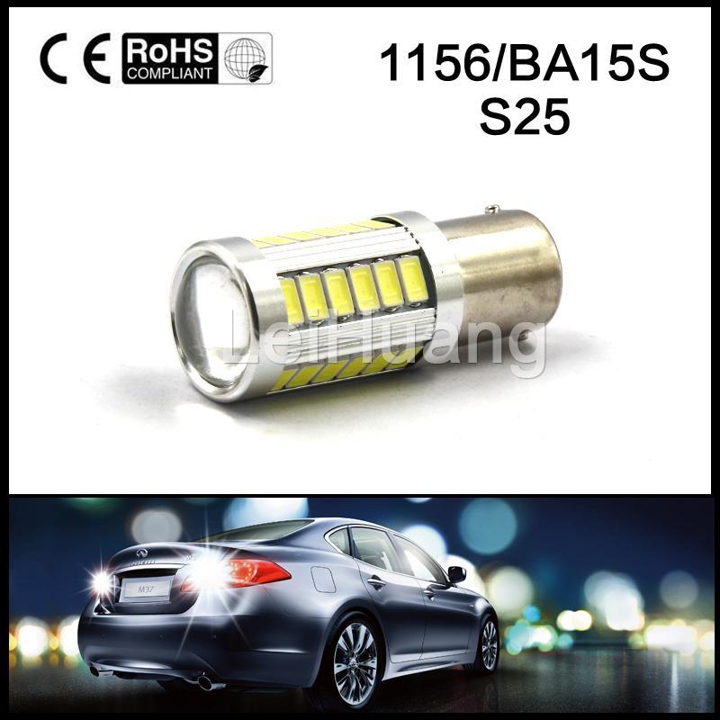 1PCS S25 1156 BA15S P21w  33 LED 5630 SMD Brake Stop Light Bulb car Backup Reserve Lights auto <br><br>Aliexpress