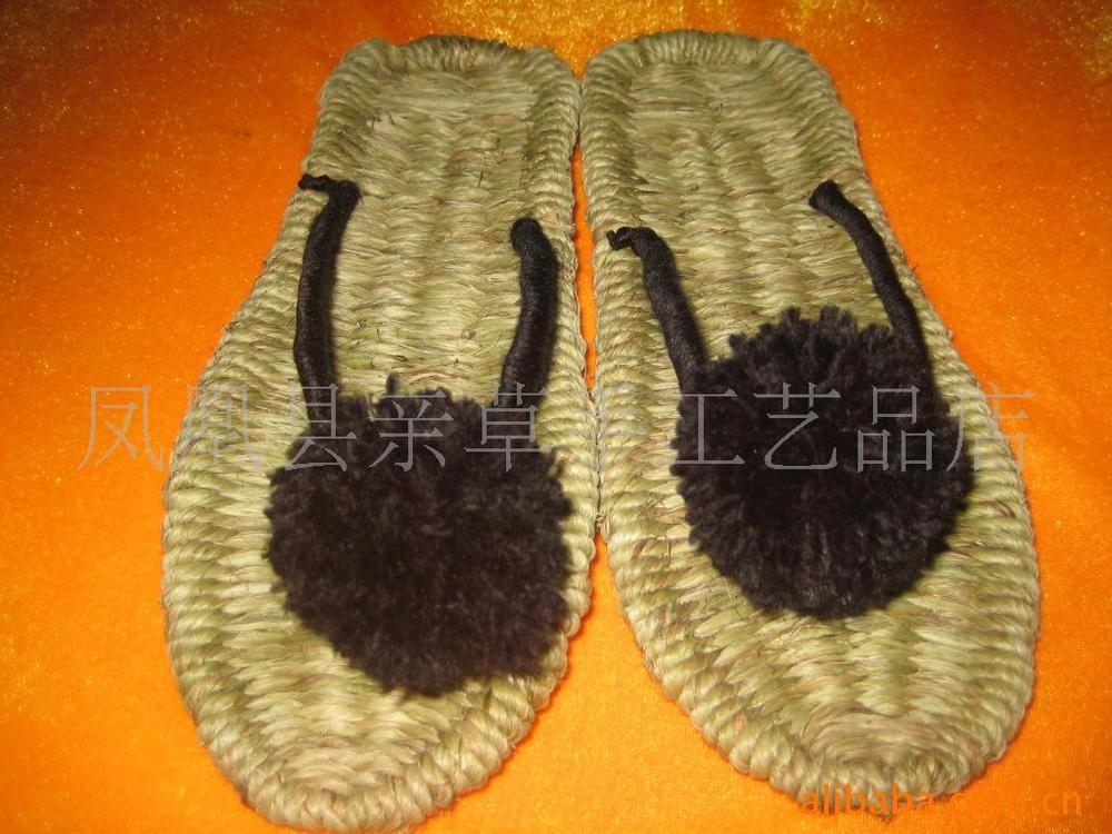 Handmade sandals slippers couple slippers bow sandals crochet sandals