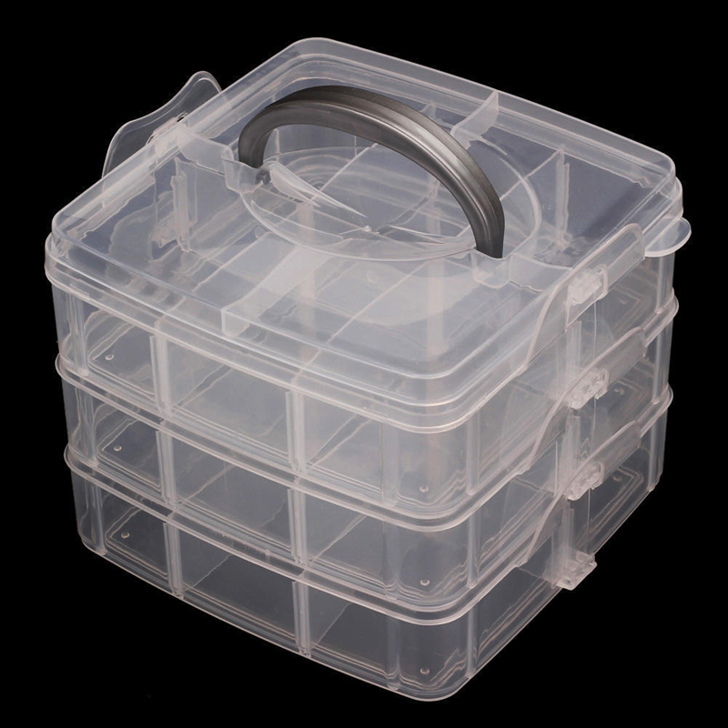 NEW 18 Slots Adjustable Organizer Beads Storage Box Case Tiny Stuff Container for Jewelry/Socks/Machine Components/ Toys/Sewing(China (Mainland))