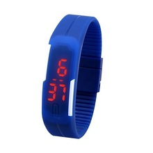 Light-Up Toys Sport LED Watch Candy Color Silicone Rubber Touch Screen Digital Watches Waterproof Wristwatch Dress Bracelet gift(China (Mainland))