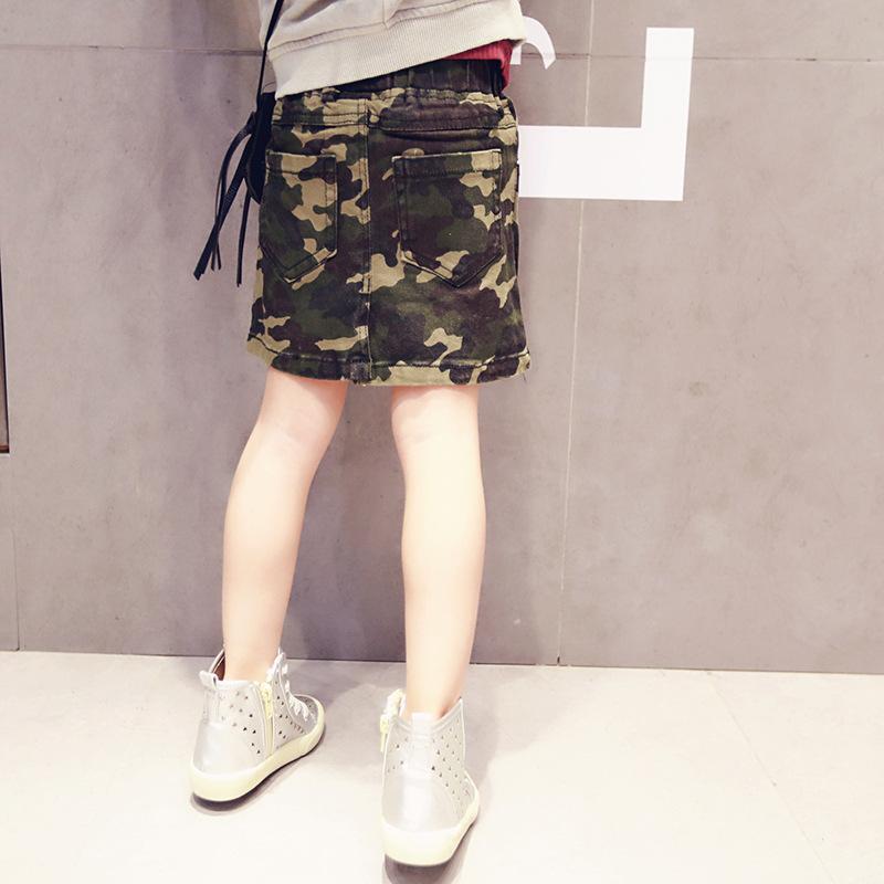 2016 New Arrival Baby Girls Fashion Denim Skirts Girls Mini Cute Bud Skirt Kids All-match Denim camouflage Skirts <br><br>Aliexpress