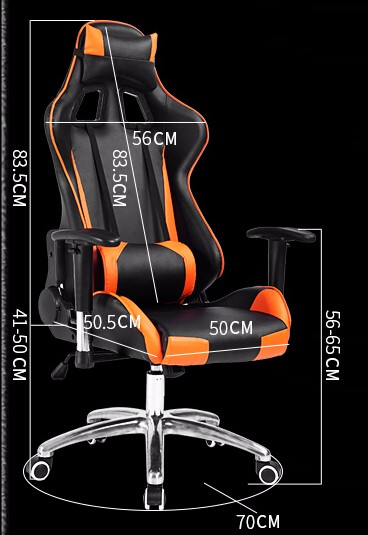 Fashion cafes reclining office chair racing computer games WCG gaming chair athletics chair with aluminum alloy legs