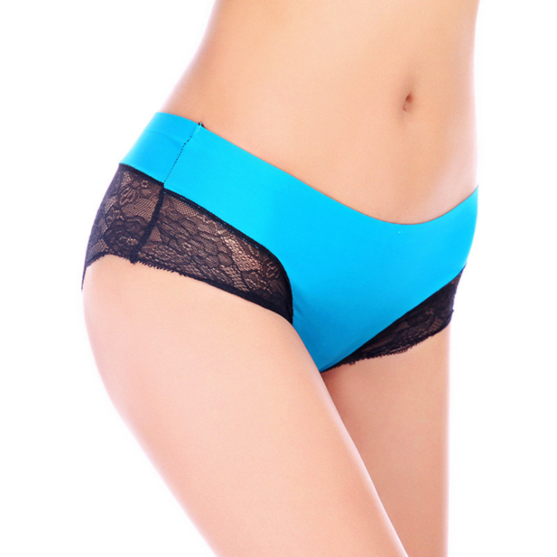 New sexy ice silk traceless women lace underwear panties calcinha xxl ropa interior mujer panty - Ropa interior xxl ...