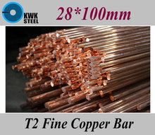 Buy 28*100mm T2 Fine Copper Bar Pure Round Copper Bars DIY Material Free for $29.90 in AliExpress store