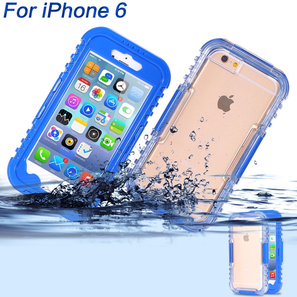 Waterproof Cases For iPhone 6 4.7'' Phone Screen Soft TPU+Hard Plastic Swimming Diving Underwater Full Protective Capa Shell(China (Mainland))