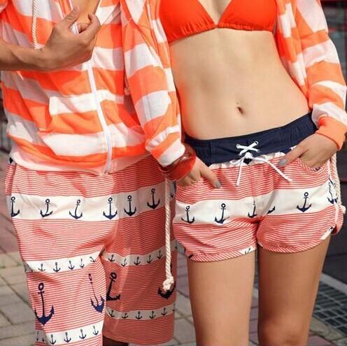 2014 новая мода пляжные шорты для пары плавание большой размер настольные Спортивные ...