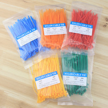 Color 2.5X100MM self-locking nylon line tied with multi-color optional 100 / bag