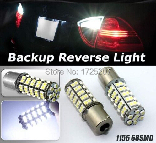 1x High efficiency Super Bright 68 SMD LED Car 1156 382 Tail Parking 21W Car Motorcycle led Turn Light/Brake lights/ Parking(China (Mainland))