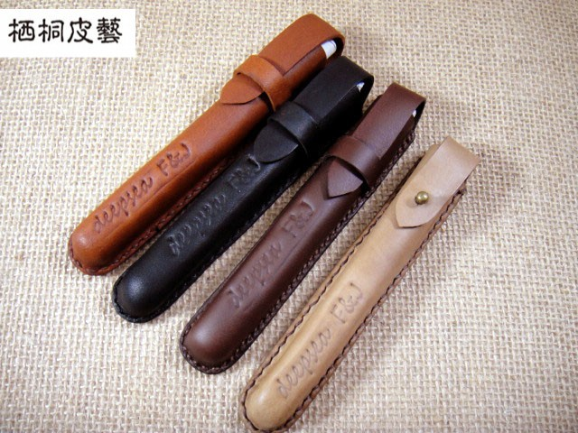 Hot Sale genuine leather handmade personalized leather vintage pencil case pencil bag pen bag<br><br>Aliexpress