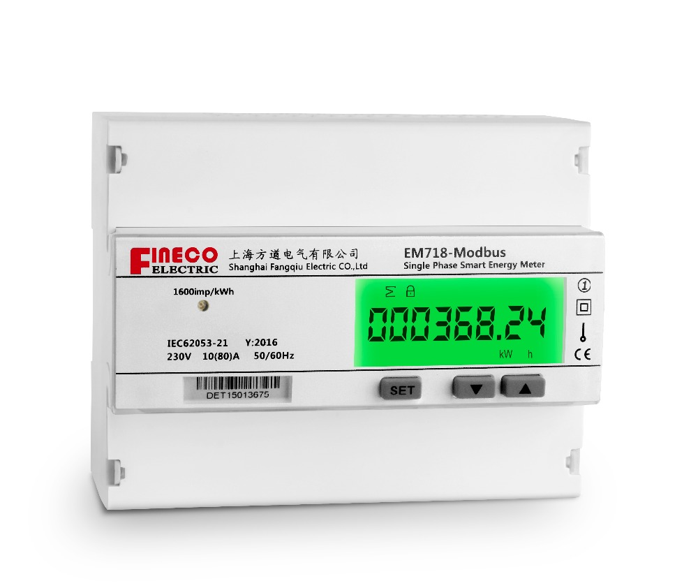 Remote Electrical Meter Service Permanent : Em  a single phase din rail energy meter modbus
