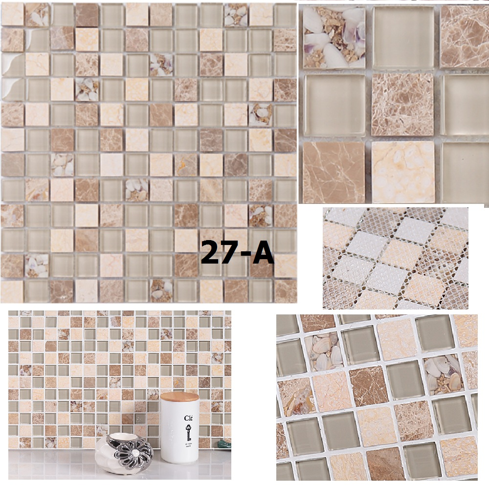 5piece Decorate Material Crystalline Ceramic Shell Mosaic TV Setting Wall Sitting Room Toilet Bathroom Wall Stickers<br><br>Aliexpress