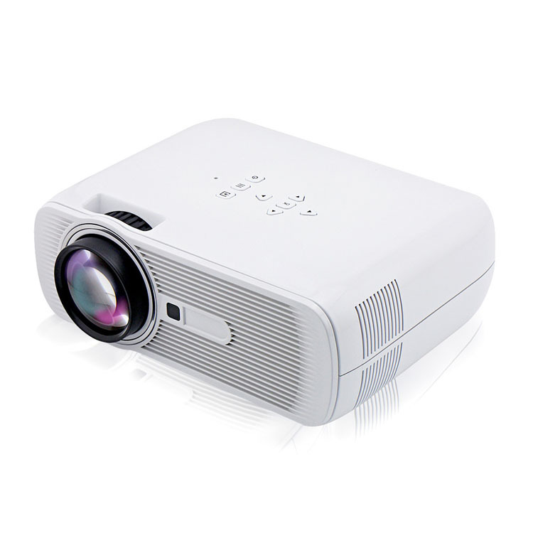 New Arrival BL - 80 LED Projector Portable Mini Home projector Media player without Screen TV Support 1080P Video White(China (Mainland))