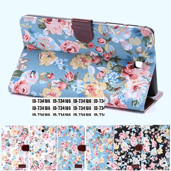 For Samsung Galaxy Tab 4 8.0 T330 Vintage Rose Flower Wallet PU Leather Stand Flip Magnetic Case Soft TPU Back Cover+screen+pen<br><br>Aliexpress