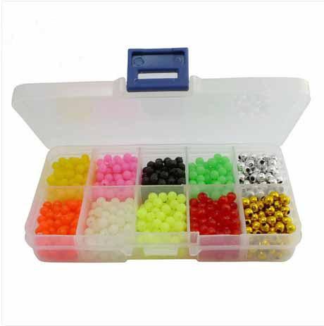 Standard 5mm colorful fishing Plastic Lure Making Blocking Beads Kit 100pcs each of 10 colors(China (Mainland))