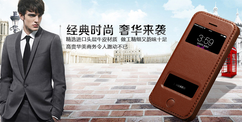 Premium Handmade Genuine real natural Leather case cover for Apple iPhone 5s and i5 SE phone bag with stand folio skin cowhide