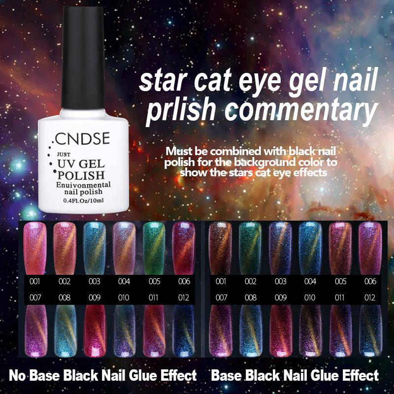 12 Colors Magnetic Cat Eyes Gel Nail Polish LED UV Gel Lacquer 10ML Gel Lak Vernis Semi Permanent Nail Art UV Nail Varnish