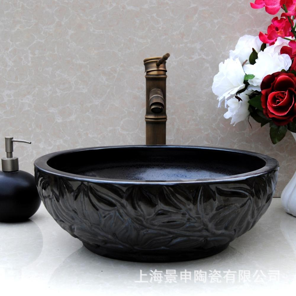 Jingdezhen manufacturers selling all kinds of ceramic ceramic imitation marble countertop basin(China (Mainland))