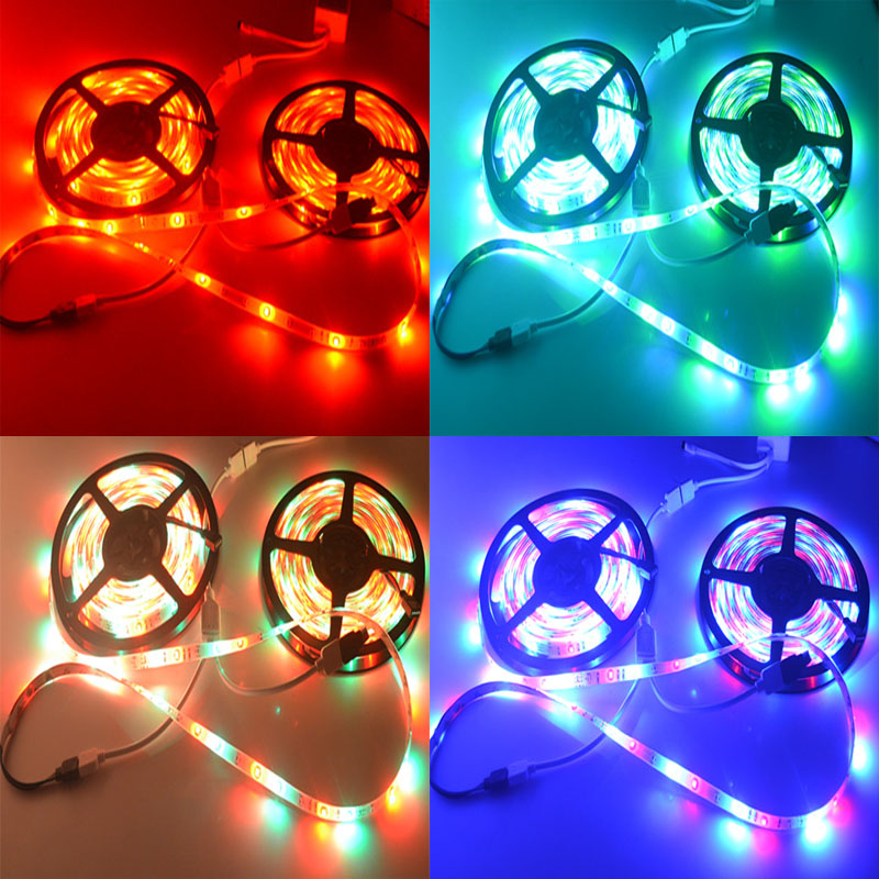 RIRI Won RGB LED Strip Light SMD 3528/2835 Non Waterproof LED RGB Tape Ribbon Flexible Light 54LED/M 5M RGB Strip Lamp(China (Mainland))