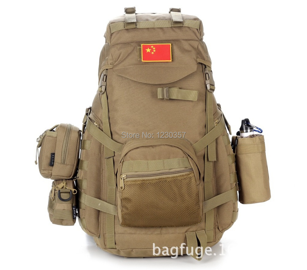 MOLLE system large capacity 60L outdoor hiking men's military backpack sports bag waterproof travel bags(China (Mainland))