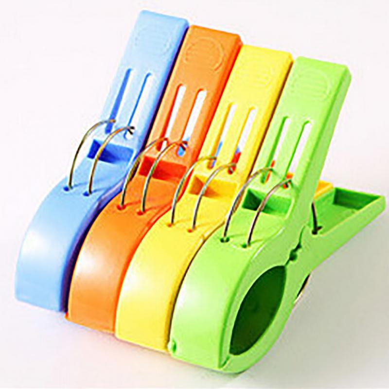 4pcs//Set Clothespins Clips Peg Laundry Hangers Clothes Clips Hangers Hot Useful