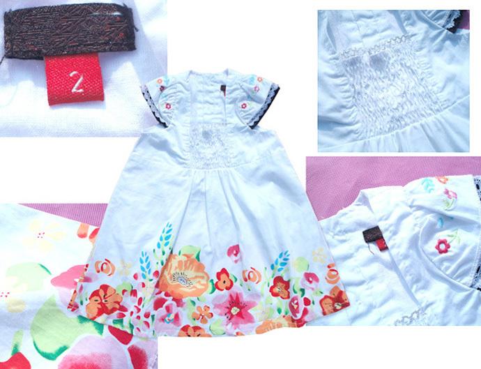Toddler girl dress flower Embroidery girls dress 100% cotton white children clothing lovely hot sale robe bebe vetement enfant(China (Mainland))