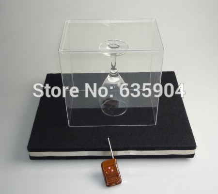 Glass Breaking Tray Pro - Remote Control ,electronic magic tricks,Christmas wholesale magic store(China (Mainland))