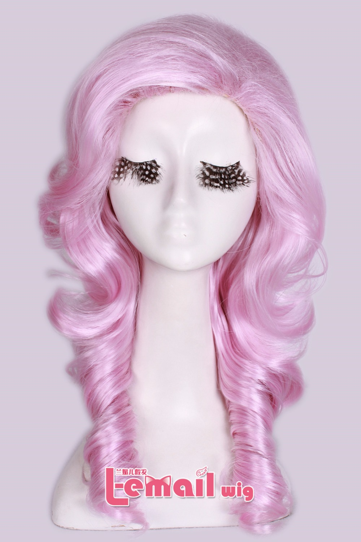 2015 Fashion Free Shipping 55cm  LOL league Pink Heartseeker Ashe Skin Cosplay Wig <br><br>Aliexpress