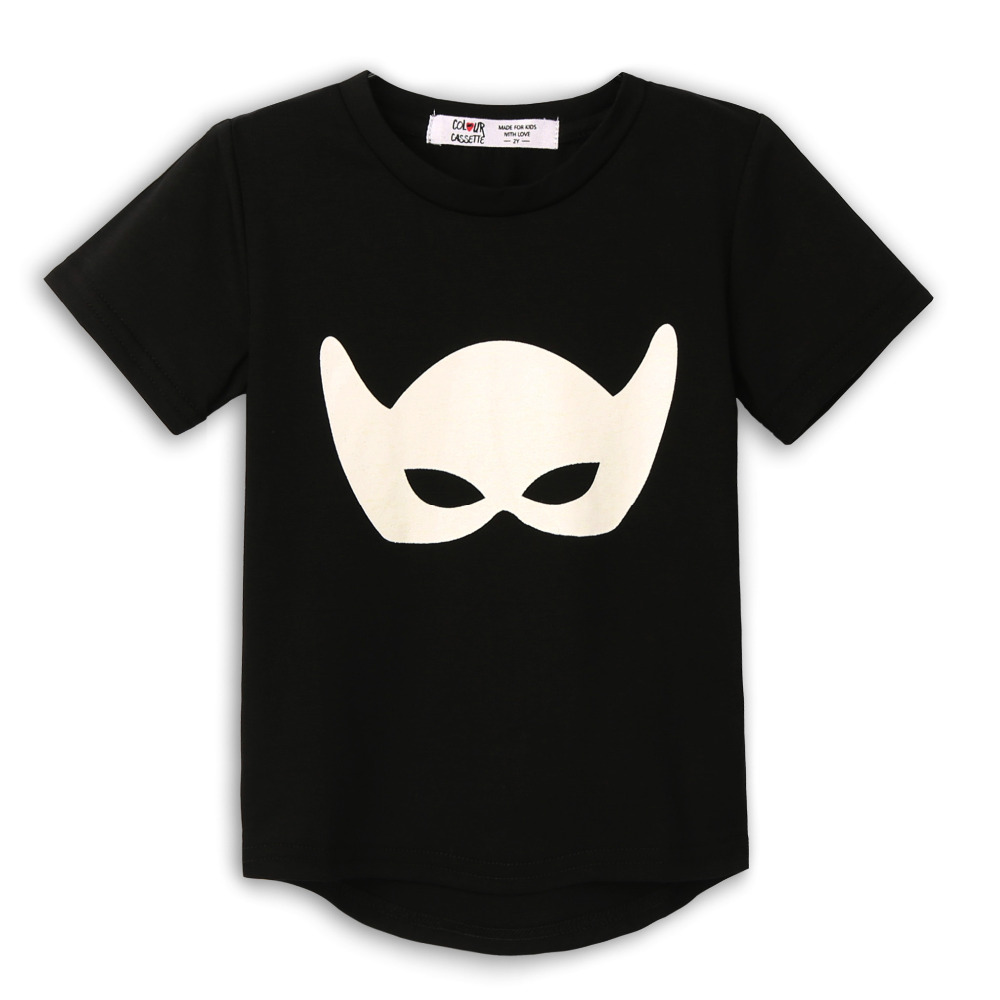 Free Shipping ! 2014 Brand New Premium 100%Cotton Jersey with mask print Short Sleeve boys t shirt . Exclusive 4 colors<br><br>Aliexpress