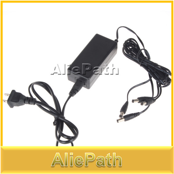 4 Channel 12V DC Distributed Power Supply Power Adapter Splitter for CCTV Security Camera, Free Shipping(China (Mainland))