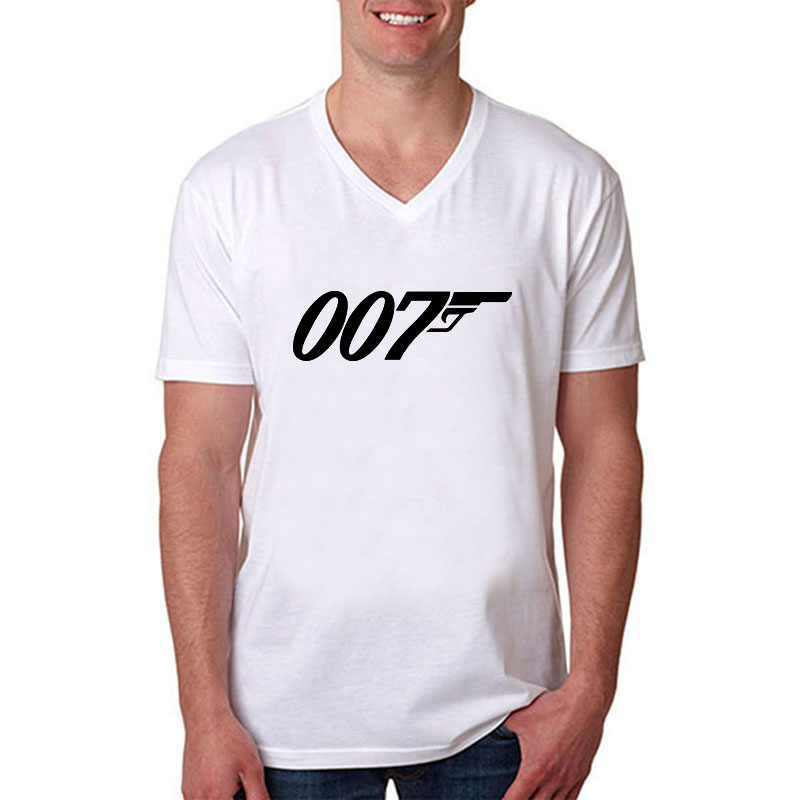 Wholesale brand quality movie film james bond 007 t shirts Bulk quality t shirts
