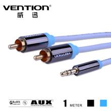Конвенция 1M черный синий 2RCA 3,5 мм Мужской AUX кабеля Позолоченные RCA разъем 3,5 аудио кабелей наушников гнездо разветвителя Окс